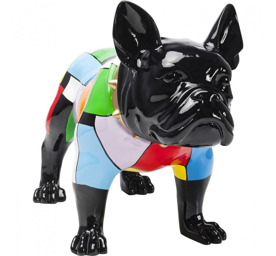 Déco chien bulldog colore 60cm Kare Design