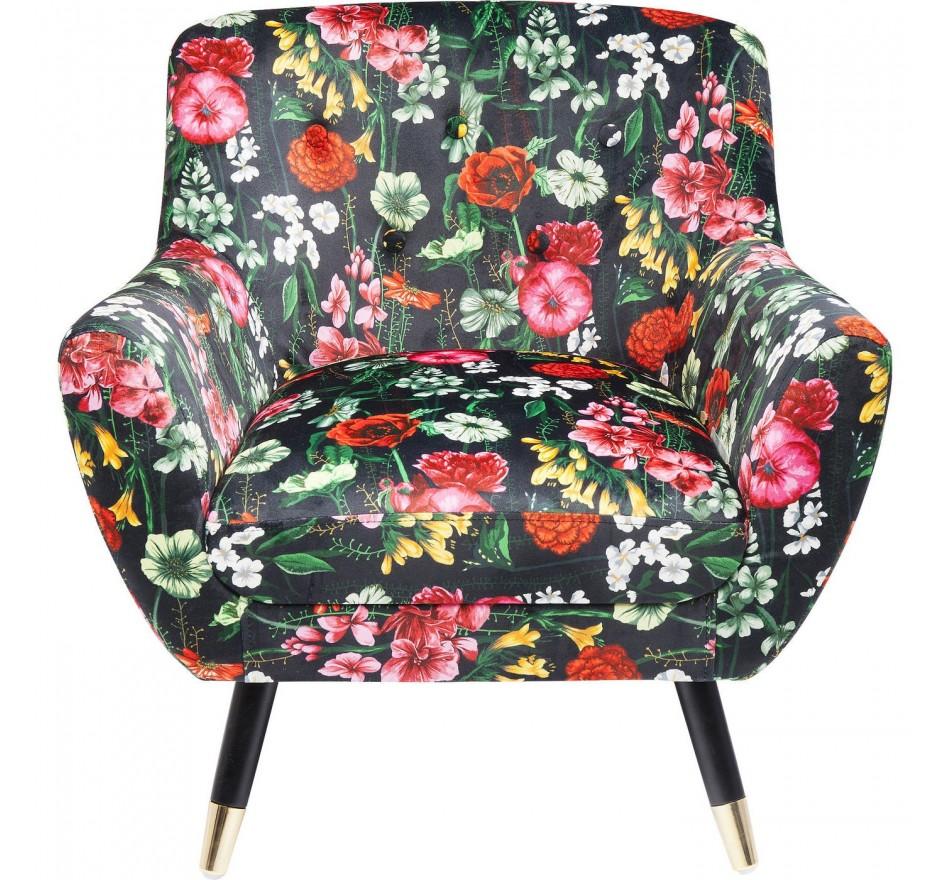 Fauteuil Olga fleurs Kare Design