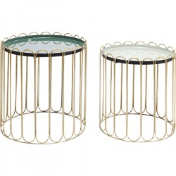Tables d'appoint Cha Cha Cha set de 2 Kare Design