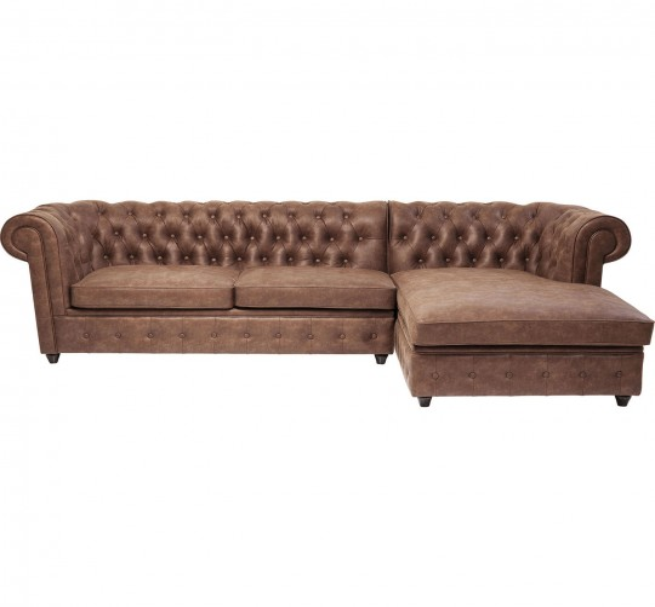 Canapé d'angle Oxford Cowboy droite Kare Design