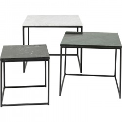 Tables d'appoint Key West marbre set de 3 Kare Design
