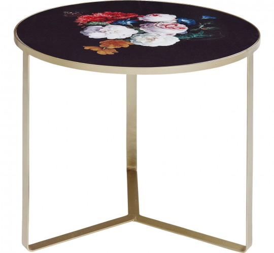 Table d'appoint Fleurs 45cm Kare Design