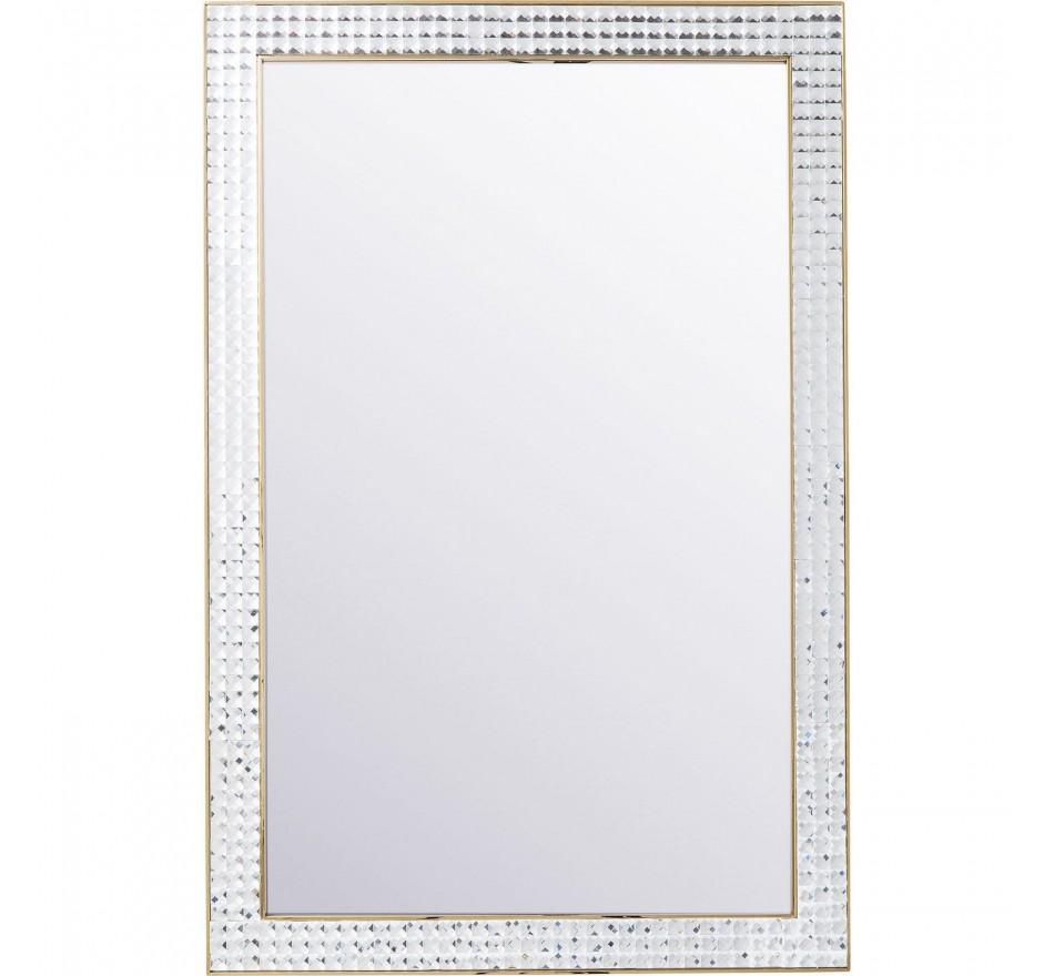 Miroir Crystals Steel doré 120x80cm Kare Design