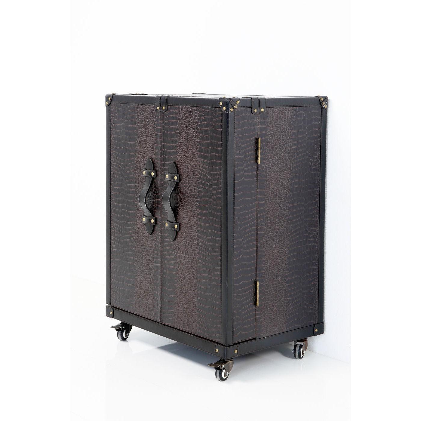 Bar-coffre bas Colonial croco Kare Design