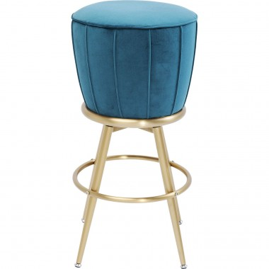 Tabouret de bar After Work velours bleu Kare Design