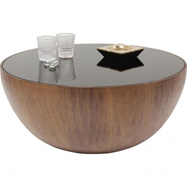 Table basse Tear Drops noyer 80cm Kare Design