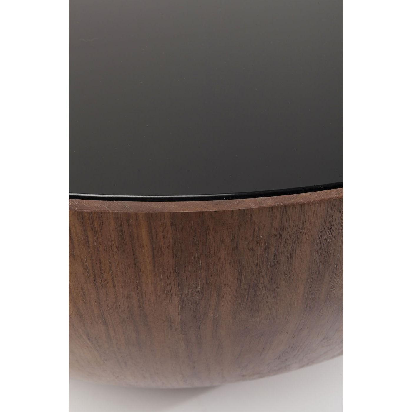 Table basse Tear Drops 80cm noyer Kare Design