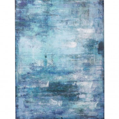 Tableau Touch Abstract bleu 90x120cm Kare Design
