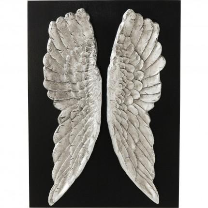 Tableau noir ailes argentées Kare Design