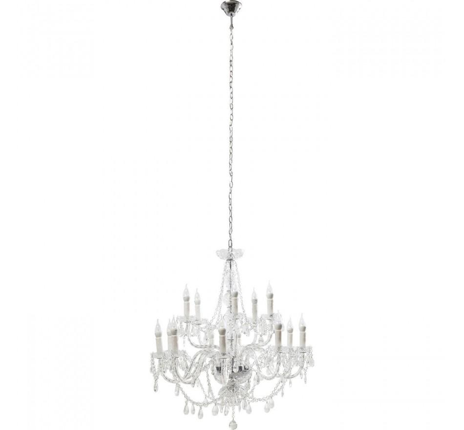 Lustre Gioiello Crystal Transparent 14 Branches Kare Design