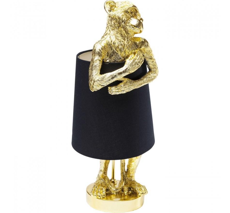 Lampe Animal Singe dorée et noire Kare Design