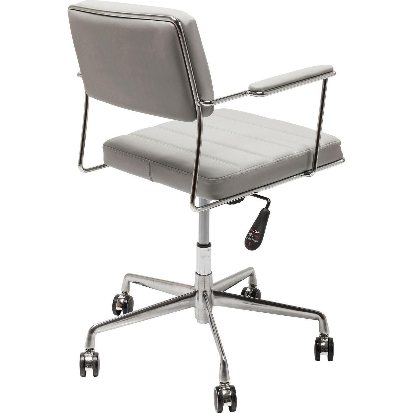 Chaise de bureau pivotante Dottore grise Kare Design