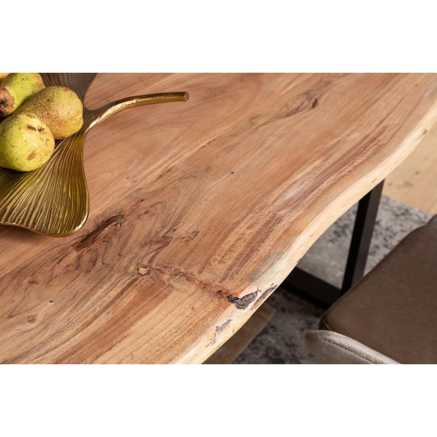 Table Pure Nature 180x90cm noire Kare Design