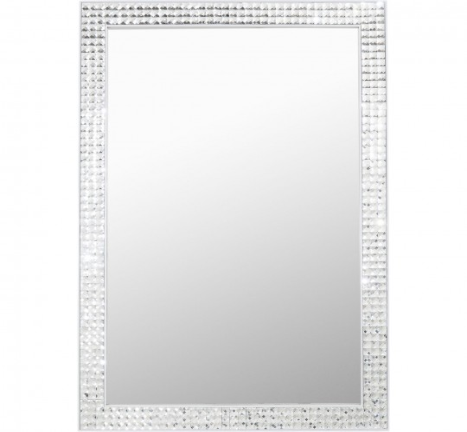 Miroir Crystals Steel blanc 120x80cm Kare Design