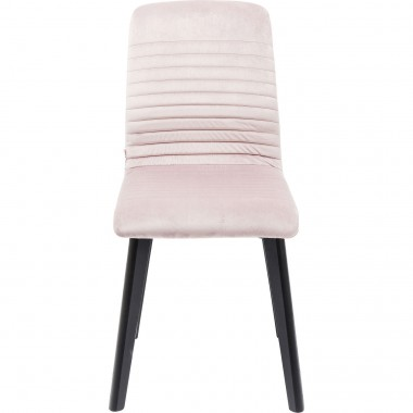 Chaise Lara velours rose Kare Design