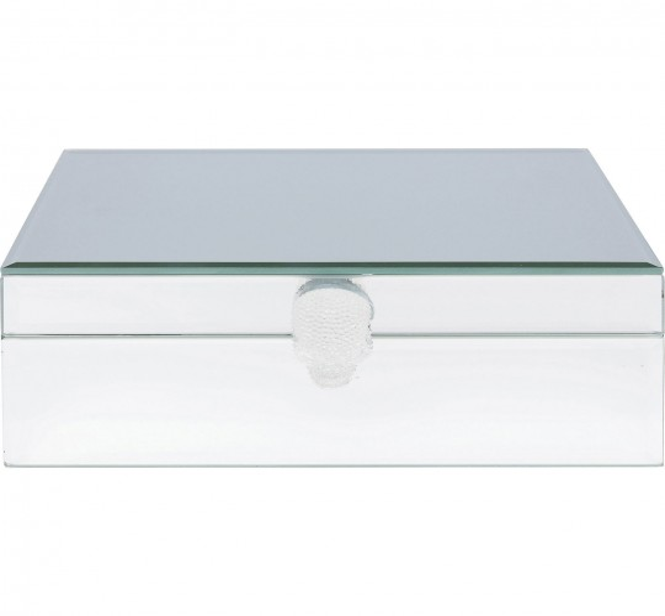 Boîte miroir crâne blanc Kare Design