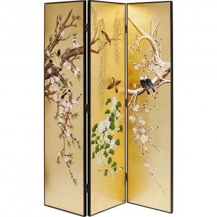 Paravent oriental oiseaux et bambou Kare Design