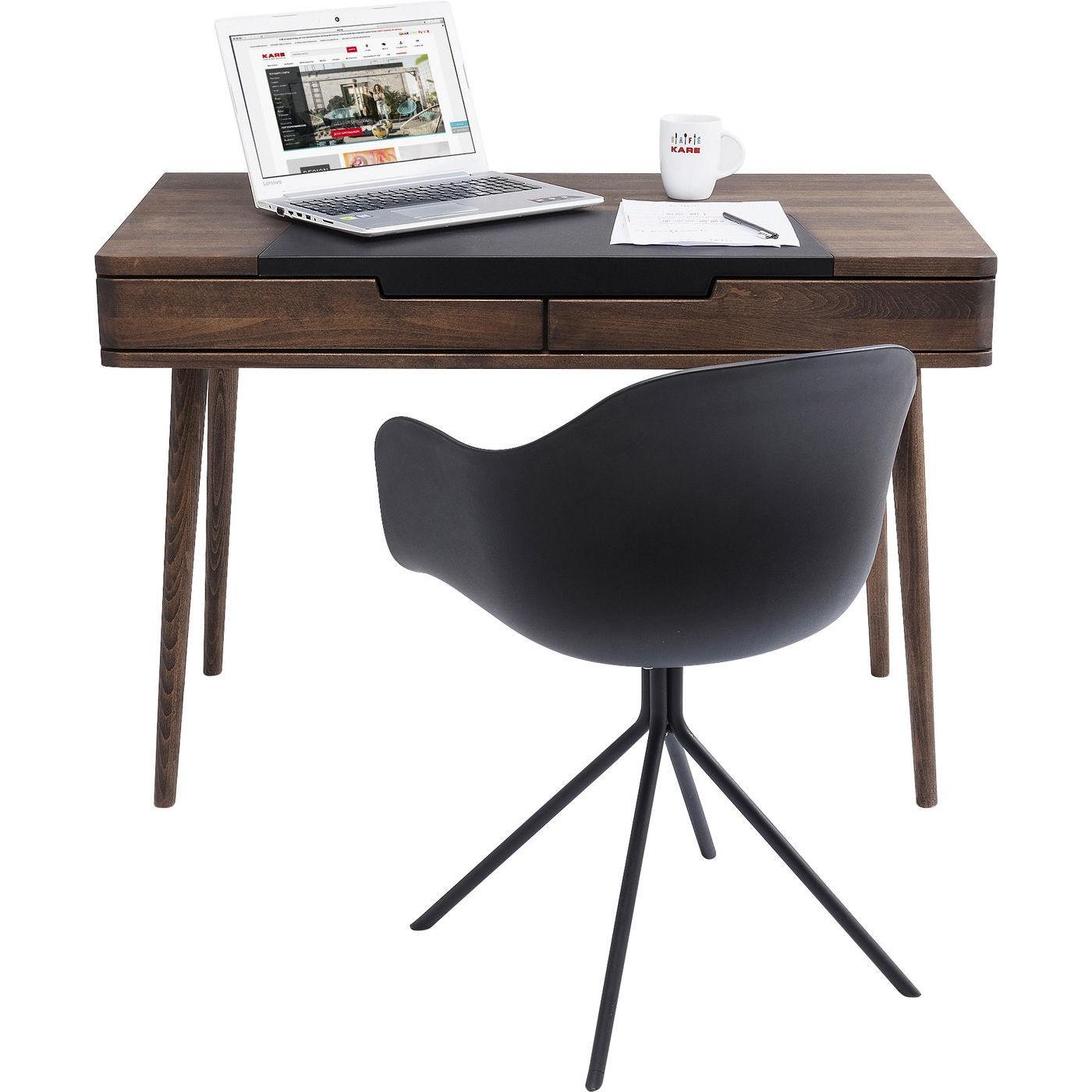 Bureau en bois Happy Stay 2 tiroirs 110x60cm Kare Design