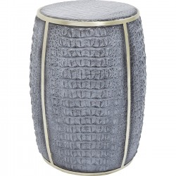 Table d'appoint Croco gris 46cm Kare Design