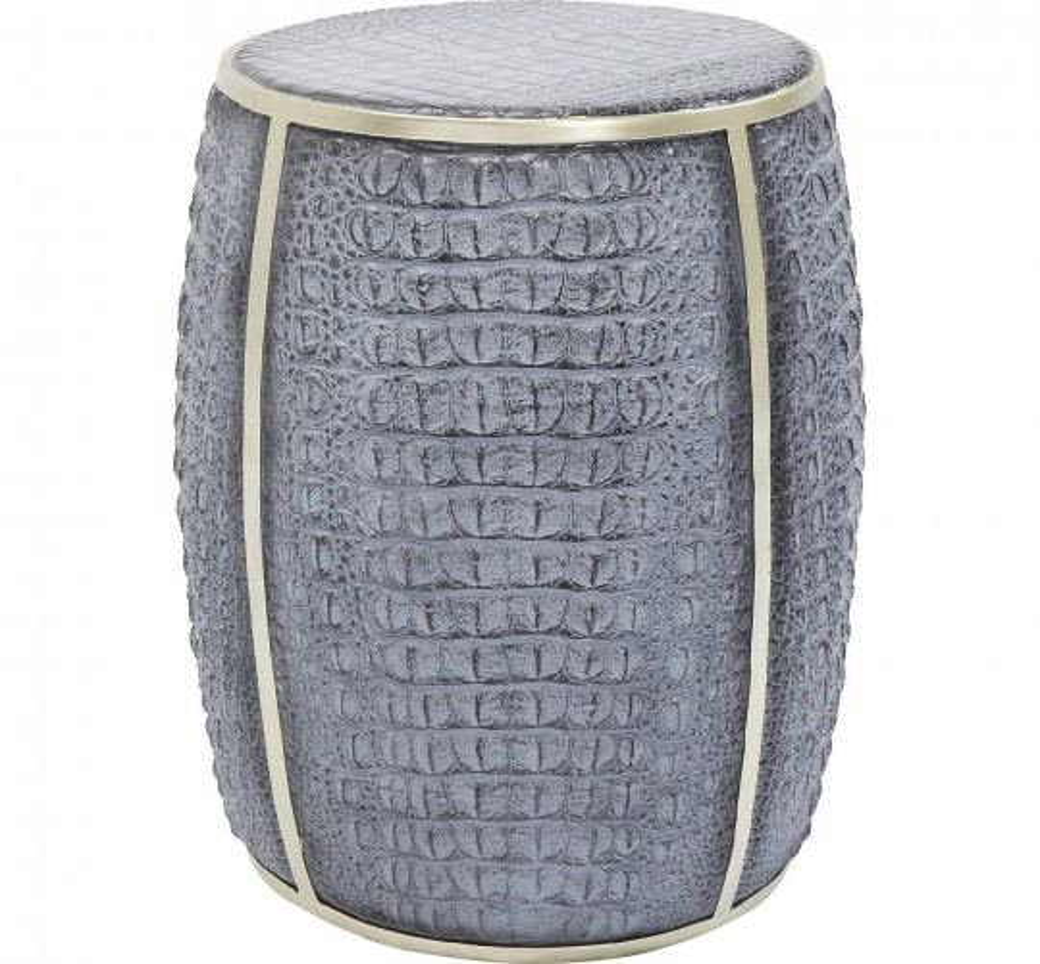 Table d'appoint Croco gris 46cm Kare Design