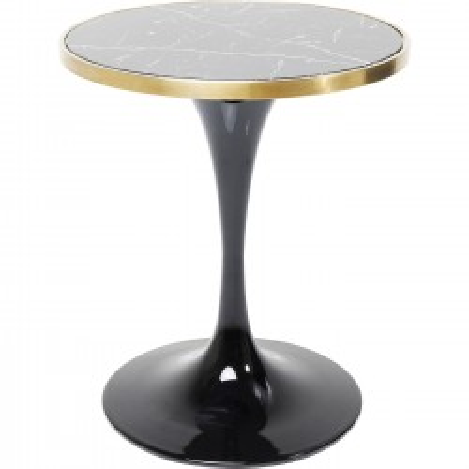 Table San Remo noire ronde 62cm Kare Design