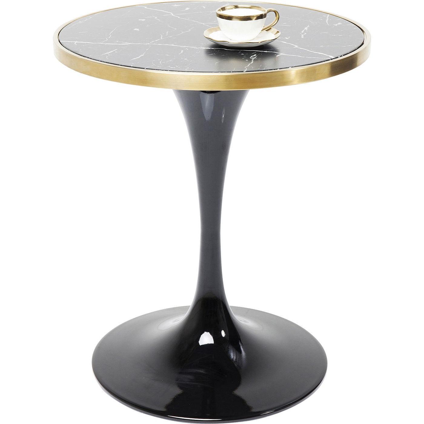 Table San Remo ronde 62cm noire Kare Design