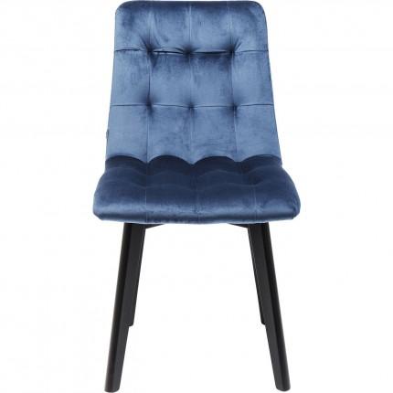 Chaise Moritz pieds noirs bleu pétrole Kare Design