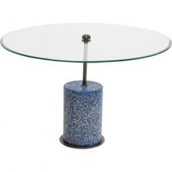Table basse Terrazzo Visible bleu 47cm Kare Design