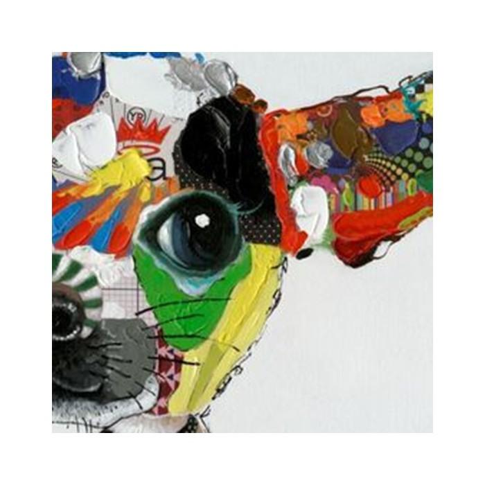 Peinture à l'huile Chihuahua 100x100cm Kare Design