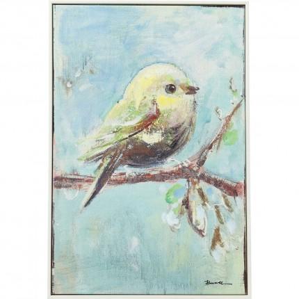 Tableau Touched Bird bleu Back 62x42cm Kare Design