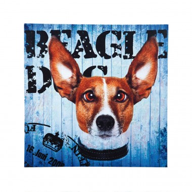 Tableau Most Wanted Dog 40x40cm Kare Design