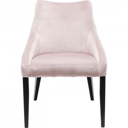 Chaise Mode Velvet noir/rose Kare Design