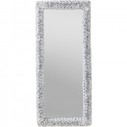 Miroir rectangulaire roses blanches 180x80cm Kare Design