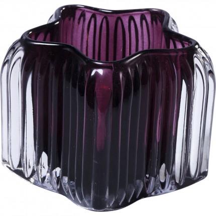 Photophores étoiles violettes 8cm set de 2 Kare Design