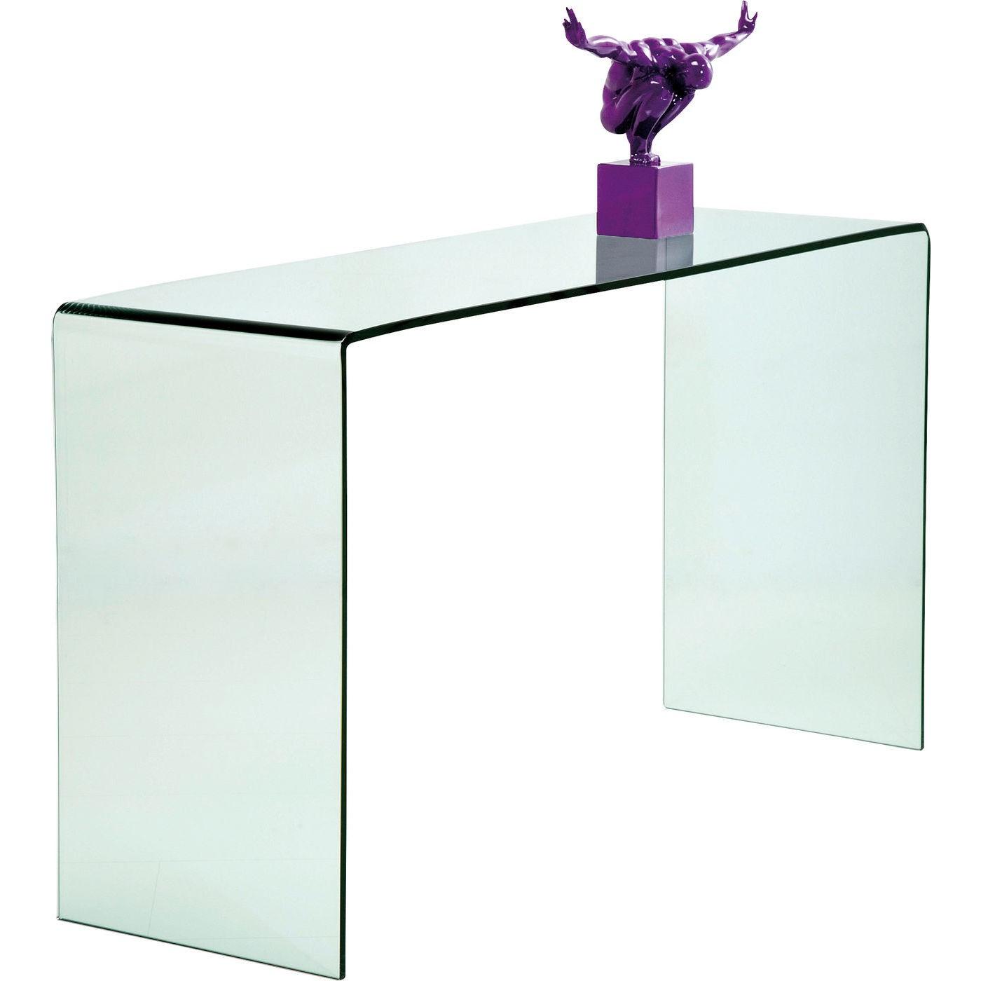 Console en verre Clear Club 120x30cm Kare Design