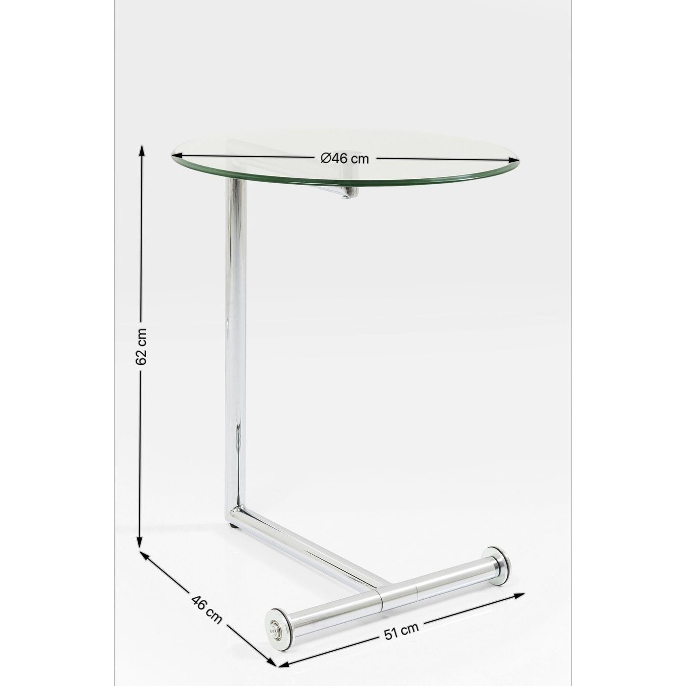 Table d'appoint Easy Living transparente Kare Design