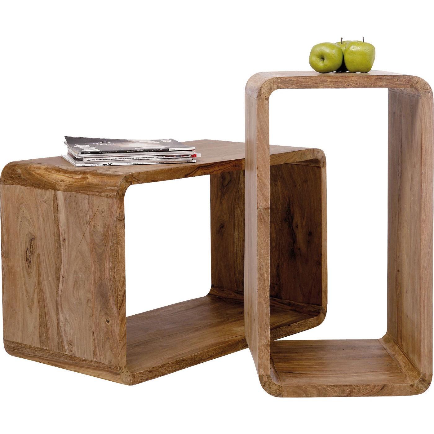 Cubes rectangulaires Authentico set de 2 Kare Design