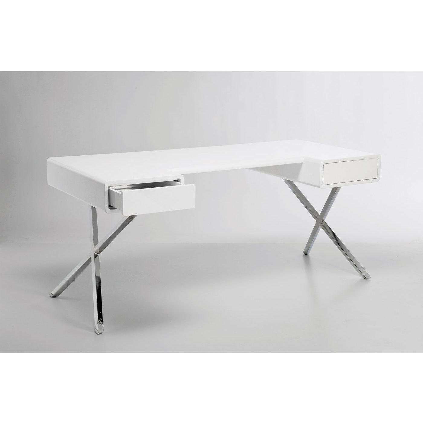 Bureau blanc Insider 2 tiroirs 160x75 cm Kare Design
