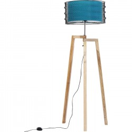 Lampadaire Wire Tripod bleu Kare Design