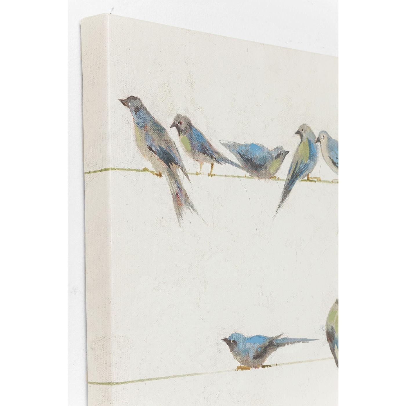 Tableau Touched oiseaux 100x100cm Kare Design