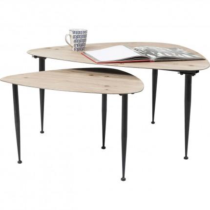 Tables basses Melange set de 2 Kare Design