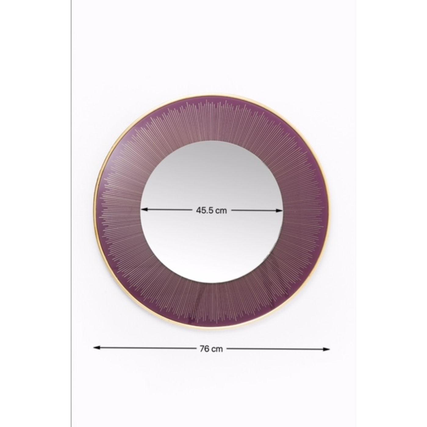 Miroir rond Revival violet 76cm Kare Design