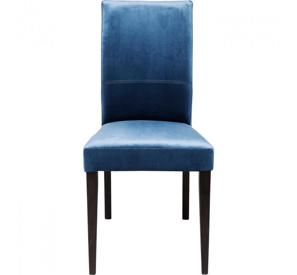 Chaise Mara velours bleue pétrole Kare Design