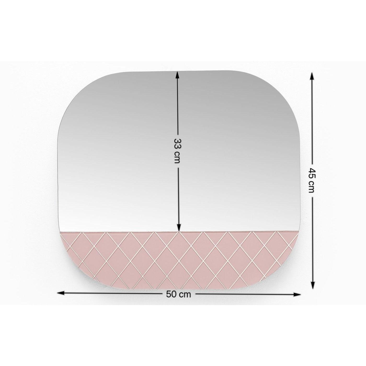 Miroir Café Society rose 50x45cm Kare Design