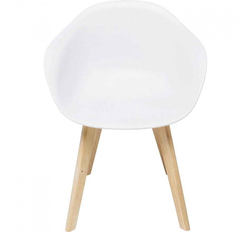 Chaise avec accoudoirs Forum Scandi Object blanc mat Kare Design