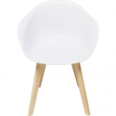 Chaise avec accoudoirs Forum Scandi blanc mat Kare Design