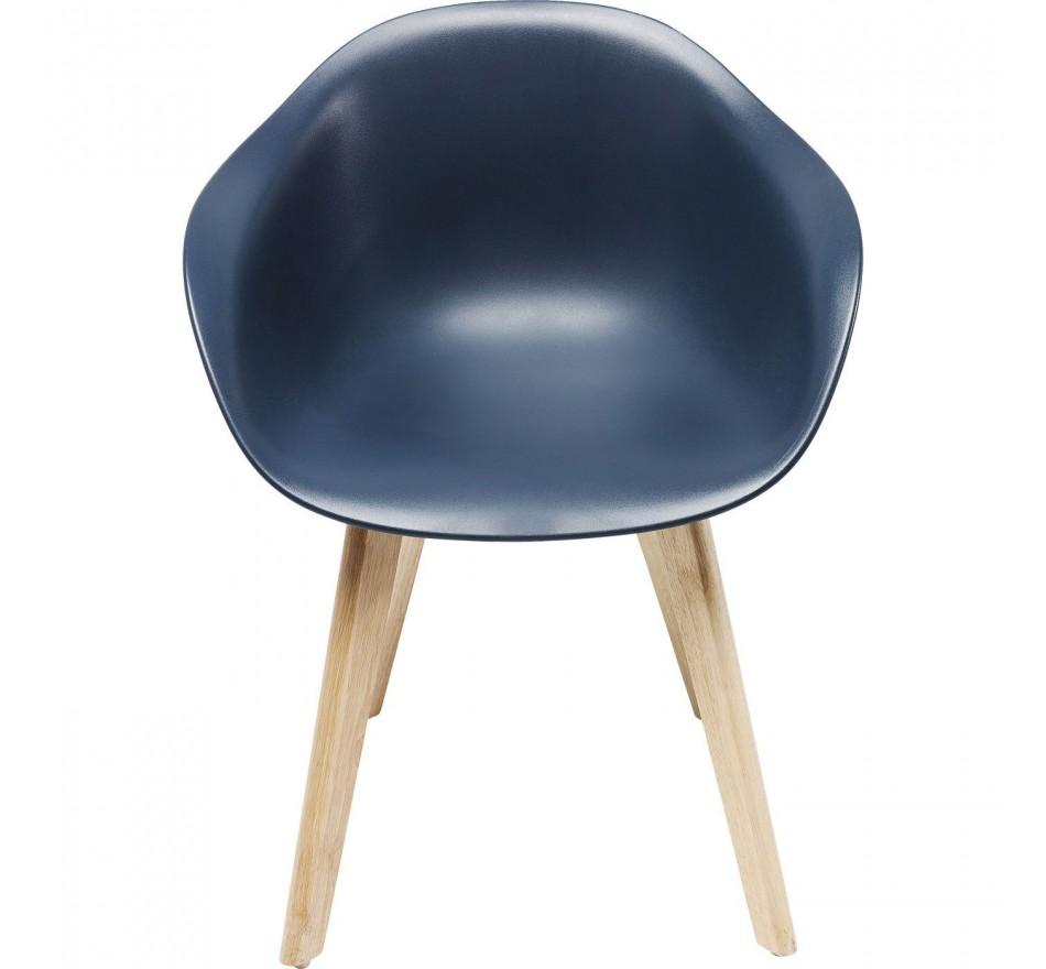 Chaise avec accoudoirs Forum Scandi gris mat Kare Design