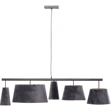 Suspension Parecchi velours gris 150cm Kare Design