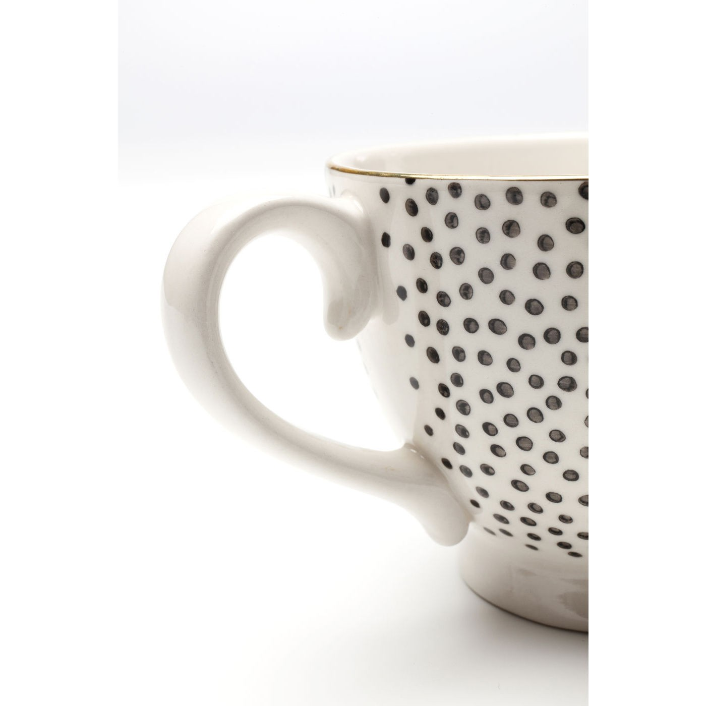 Tasses Dotty Rim set de 4 Kare Design