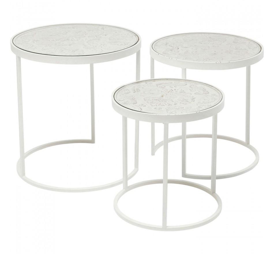 Tables d'appoint Sweet Home set de 3 Kare Design